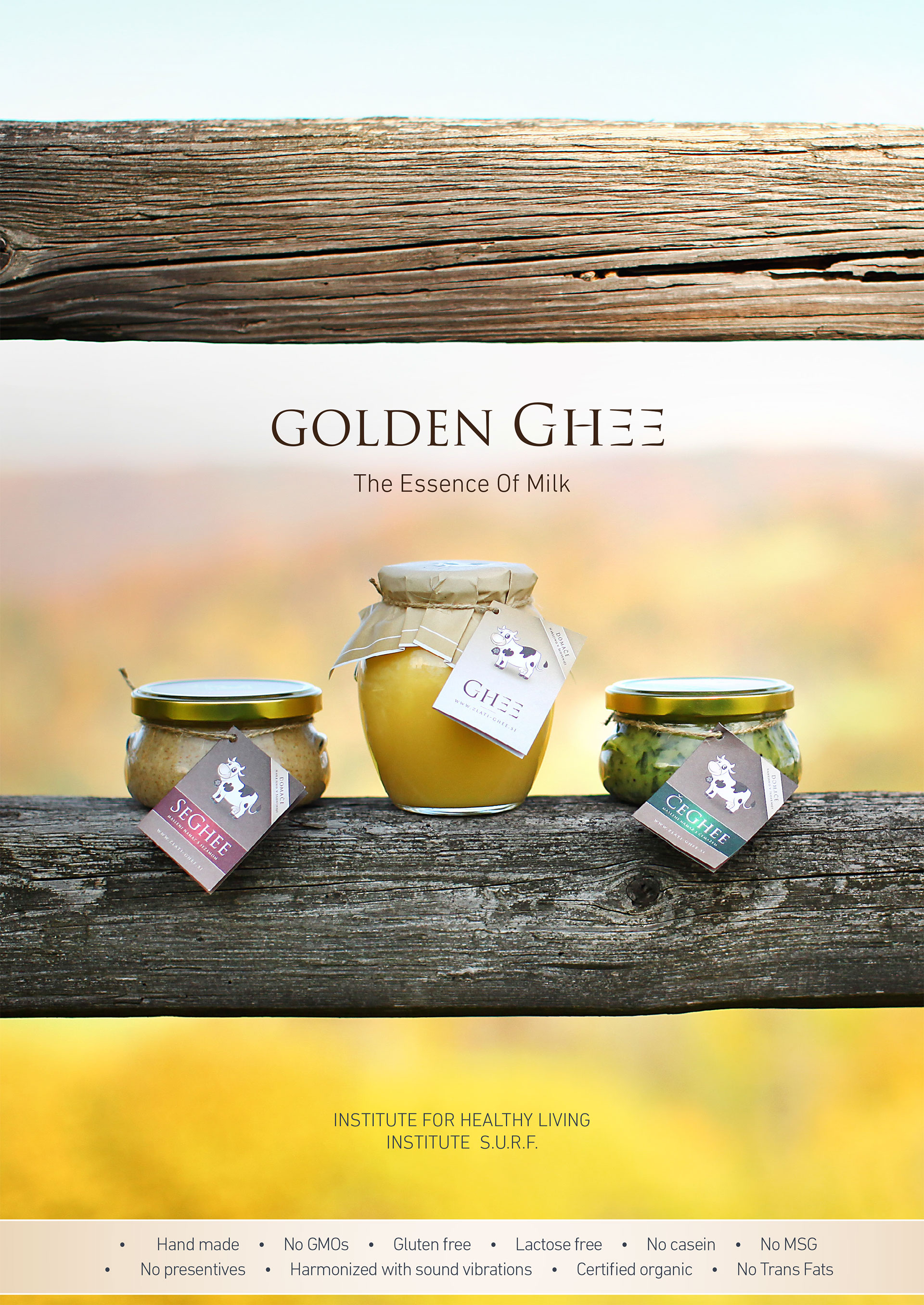 Golden Ghee the essence of milk